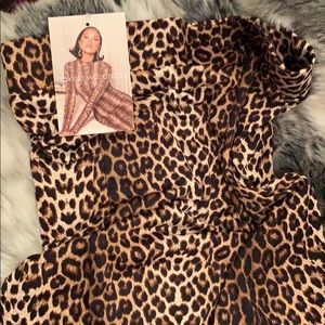 Brand new Leopard skirt with tag size medium